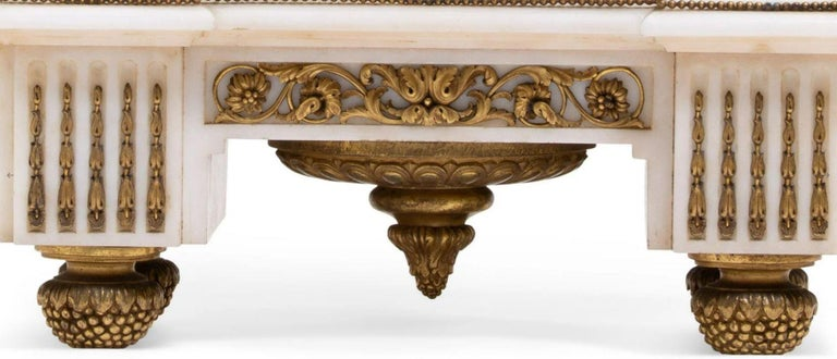 French Ormolu Marble Mantel Clock, 19th Century For Sale 7