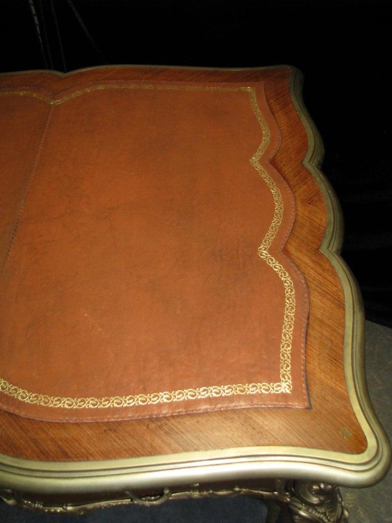 French Ormolu Mounted Bureau Plat Partner's Desk, 19th Century For Sale 10