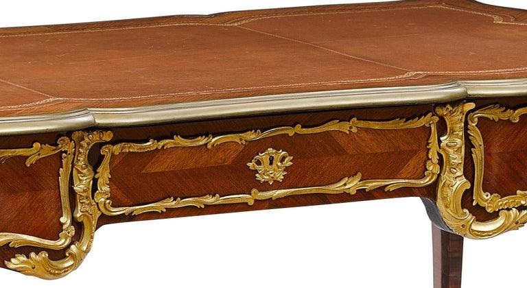 French Ormolu Mounted Bureau Plat Partner's Desk, 19th Century For Sale 2