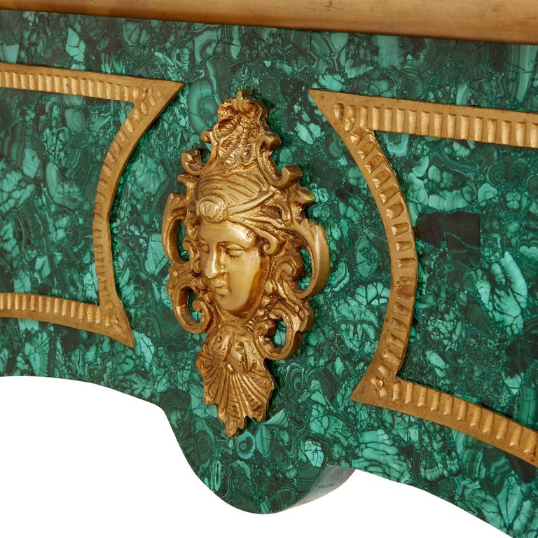French Ormolu-Mounted Malachite Bureau Plat In Excellent Condition For Sale In London, GB