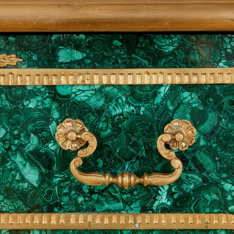 20th Century French Ormolu-Mounted Malachite Bureau Plat For Sale