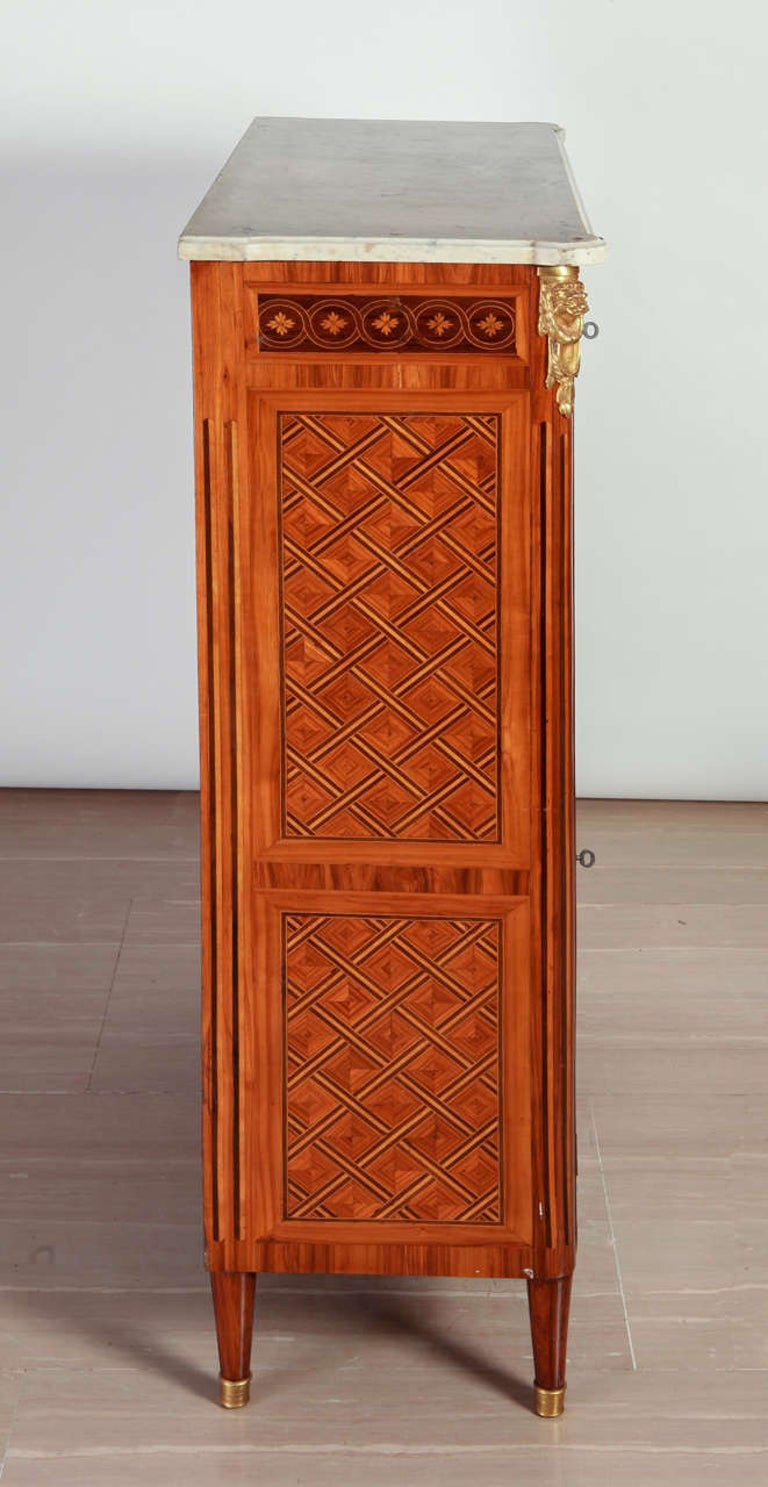French Ormolu-Mounted Marqueterie Secretaire Abattant, Cabinet, 1775 For Sale 5