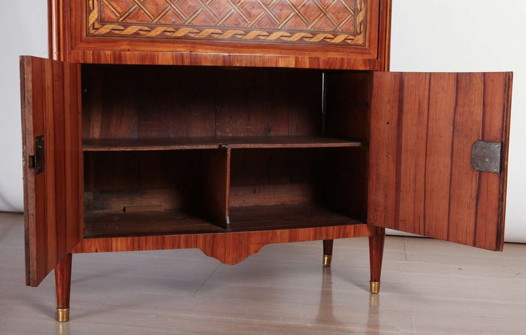 French Ormolu-Mounted Marqueterie Secretaire Abattant, Cabinet, 1775 In Good Condition For Sale In Rome, IT