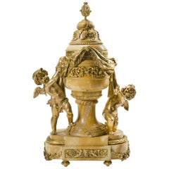 French Ormolu Mounted Siena Marble Figural Centerpiece