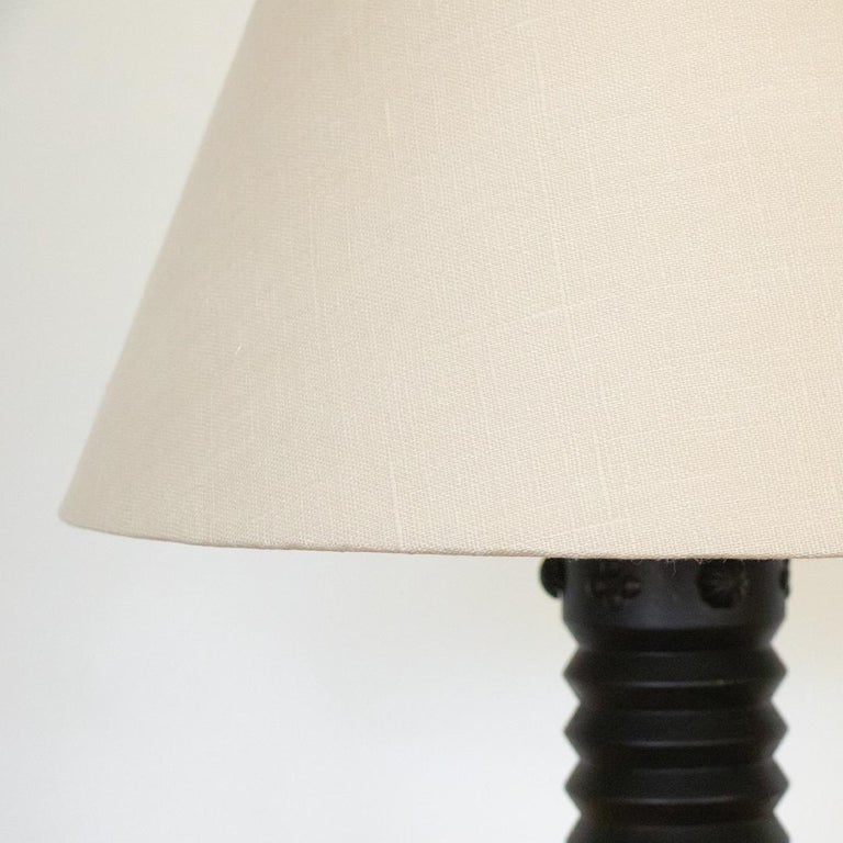 20th Century French Ornate Wood Table Lamp For Sale