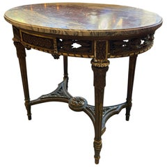 French Oval Center Table