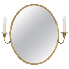 French Oval Mirror with Candle Lights
