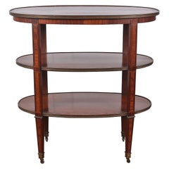 French Oval Three-Tier Trolley or Server