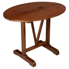 French Oval Tilt-Top Table