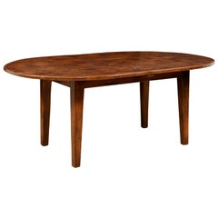 French Oval Walnut Dining Table