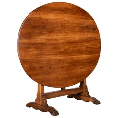 French Oval Wine Tasting or Tilt-Top Table