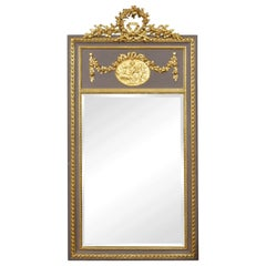 French Painted and Gilt Pier Mirror