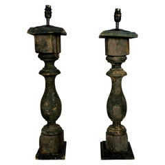 French Painted Balustrade Lamps