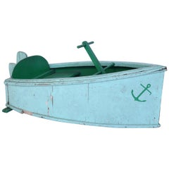 French Painted Boat from a Children's Carousel Ride