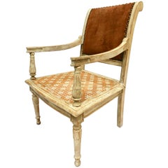 French Painted Children's Directoire Armchair