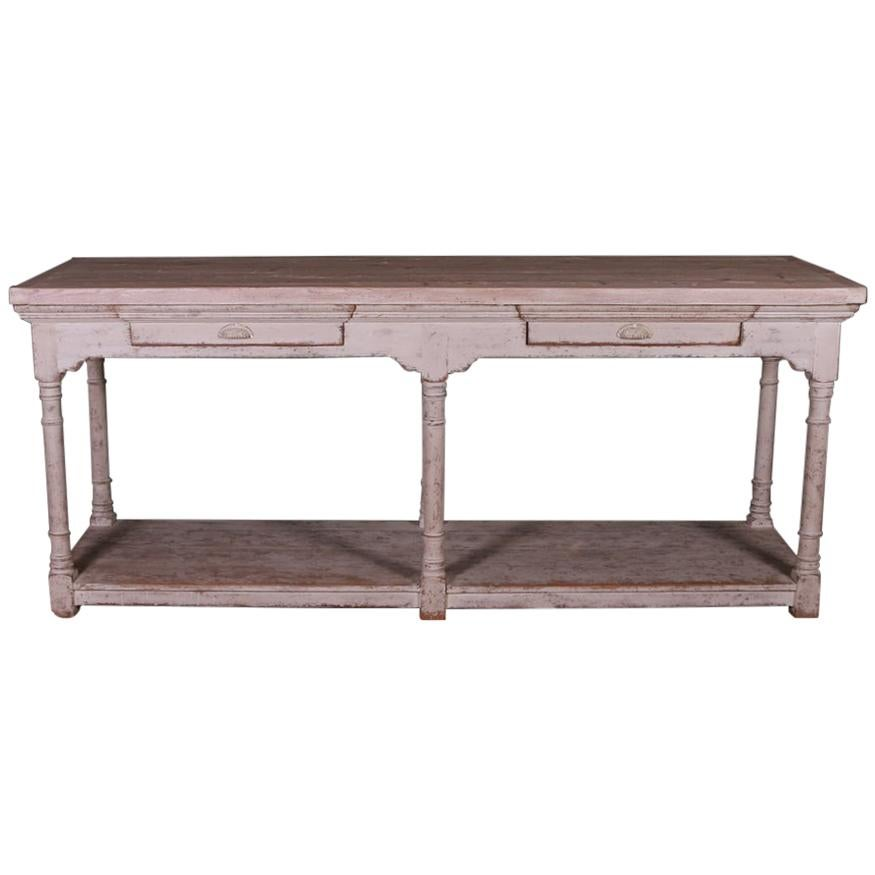 French Painted Drapers Table