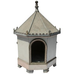 French Painted Early 20th Century Dog Kennel