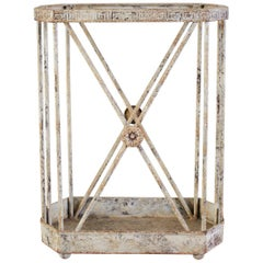 French Painted Iron Neoclassical Umbrella Cane Stand