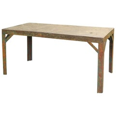French Painted Iron Table, Circa 1940
