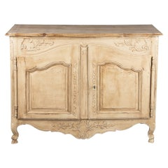 French Painted Louis XV Style Buffet, 19th Century