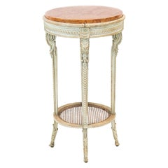 French Painted Marble-Top Occasional Table
