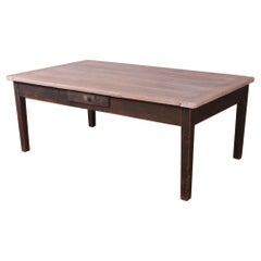 French Painted Oak Coffee Table