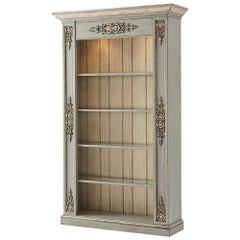 French Painted Open Bookcase