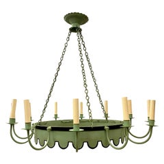 French Painted Tole Chandelier