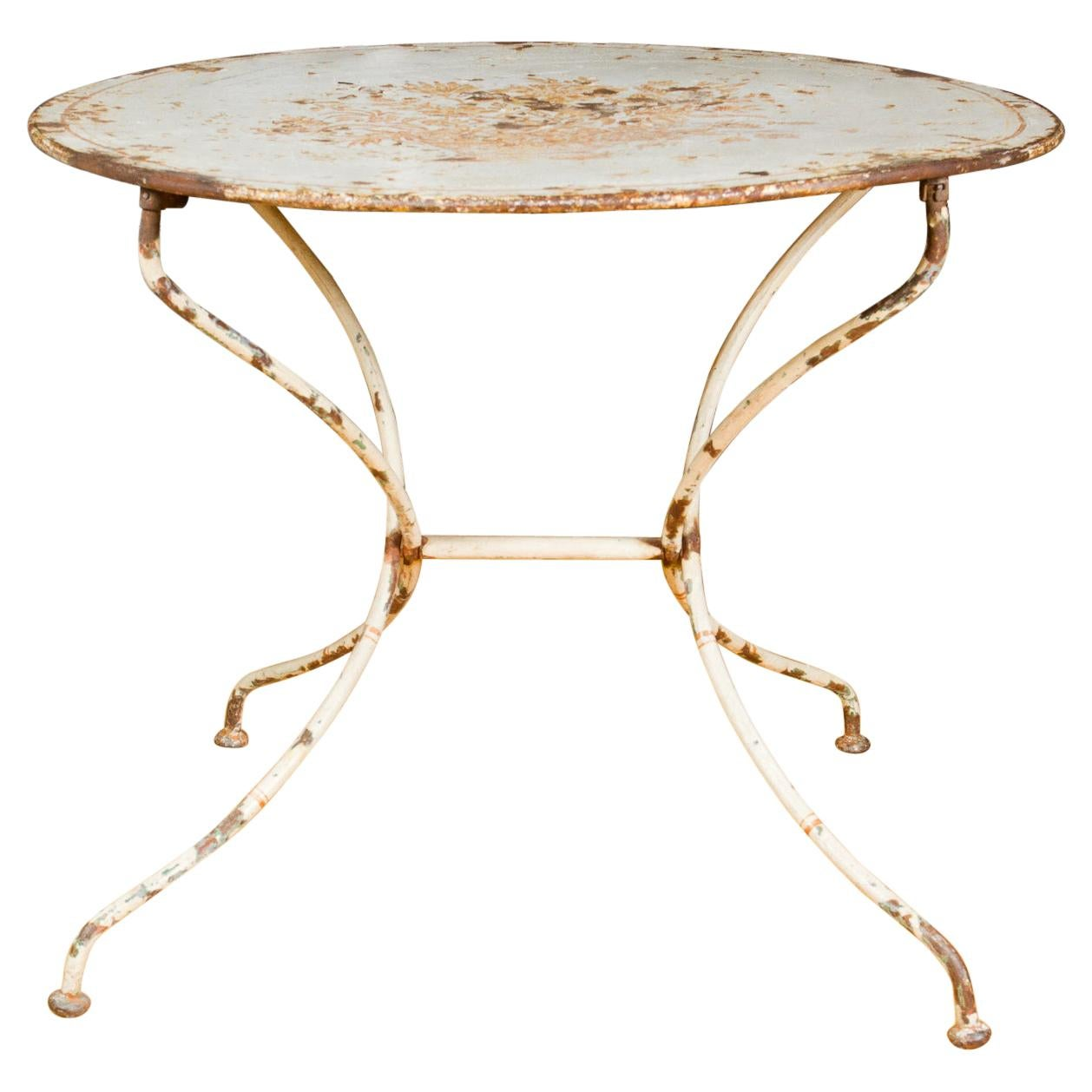 French Painted Tole Garden Table
