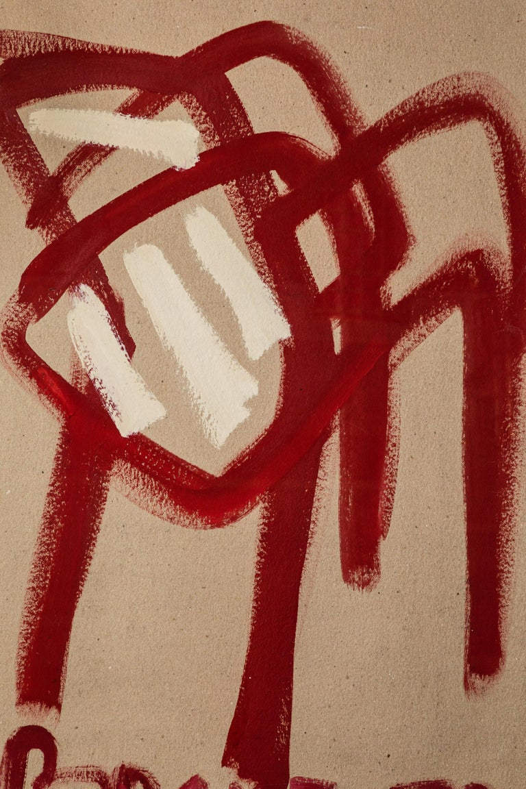 French Painting of Red Chair Titled