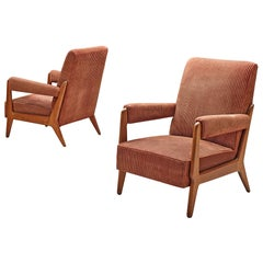 French Pair of Armchairs in Corduroy