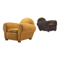 French Pair of Art Deco Lounge Chairs