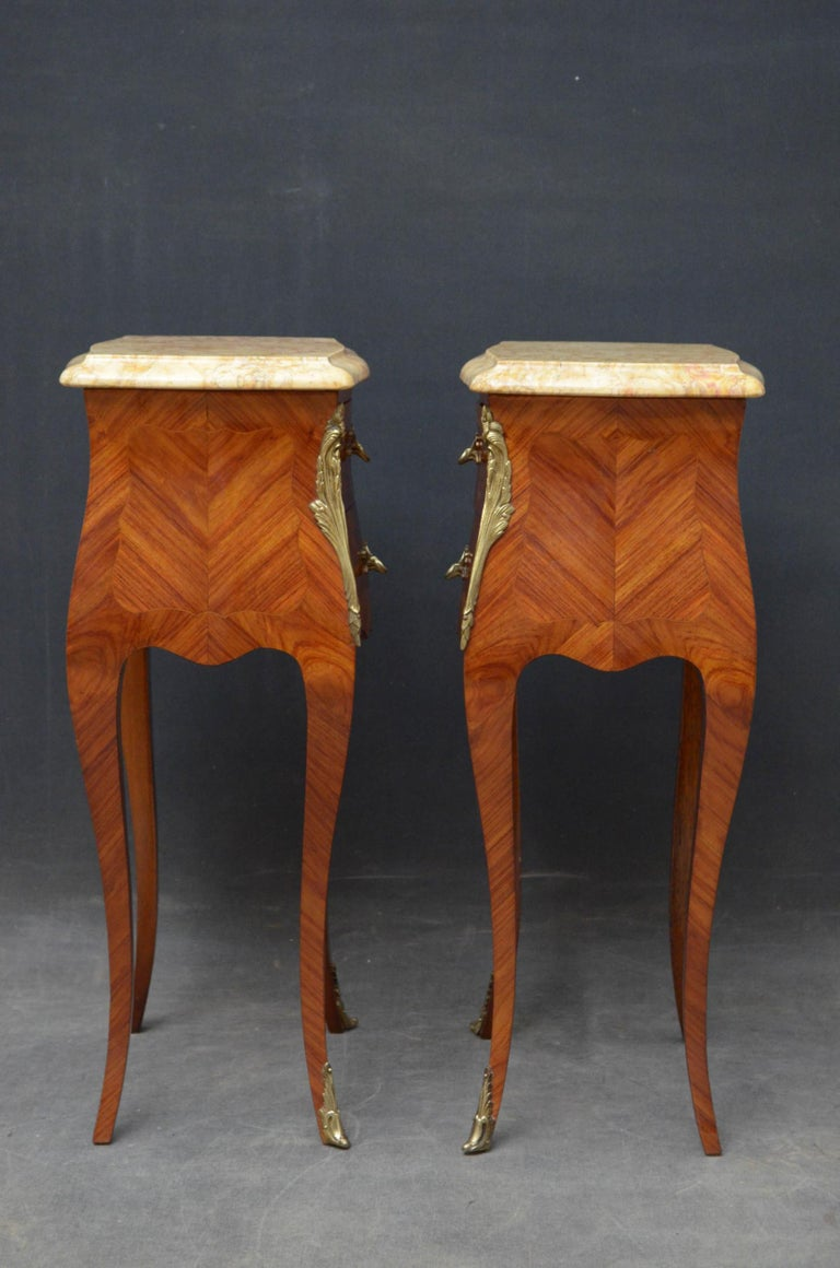 French Pair of Bedside Cabinets For Sale 5