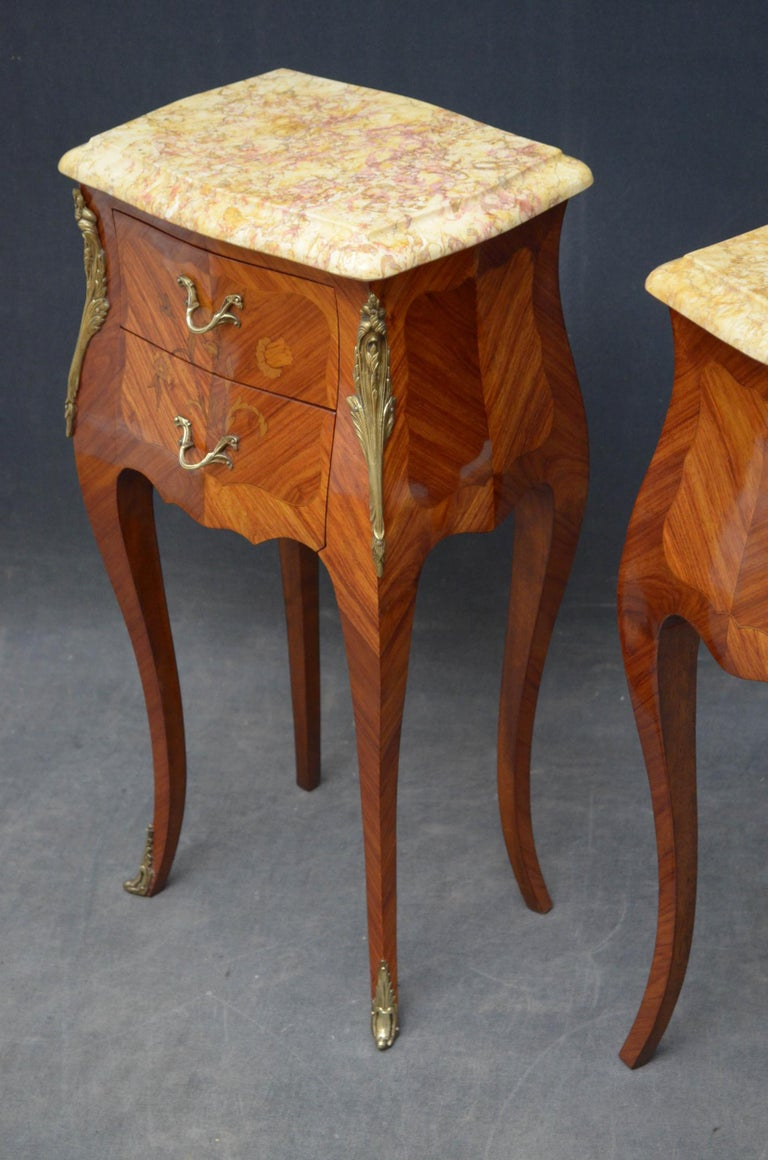 French Pair of Bedside Cabinets For Sale 6