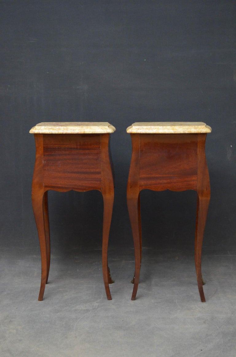 French Pair of Bedside Cabinets For Sale 7