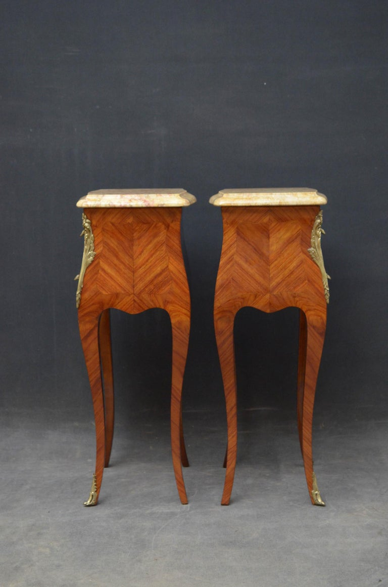 French Pair of Bedside Cabinets For Sale 8