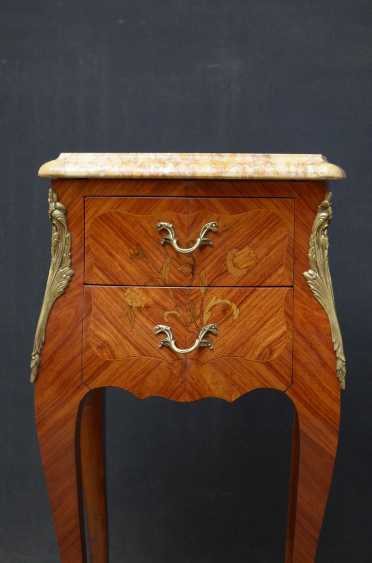 Kingwood French Pair of Bedside Cabinets For Sale
