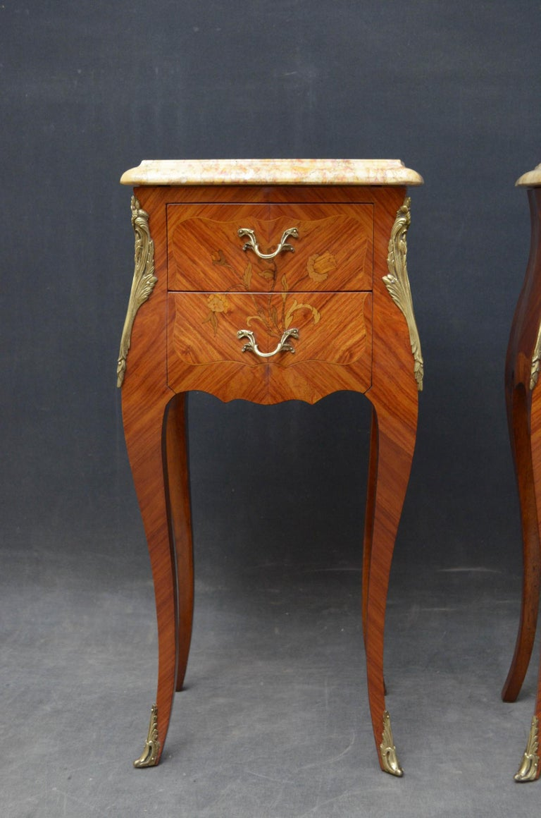 French Pair of Bedside Cabinets For Sale 1