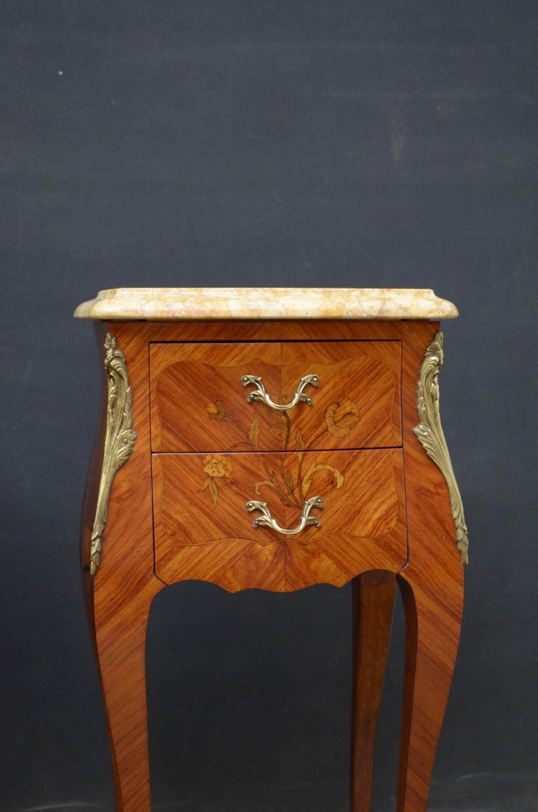 French Pair of Bedside Cabinets For Sale 2