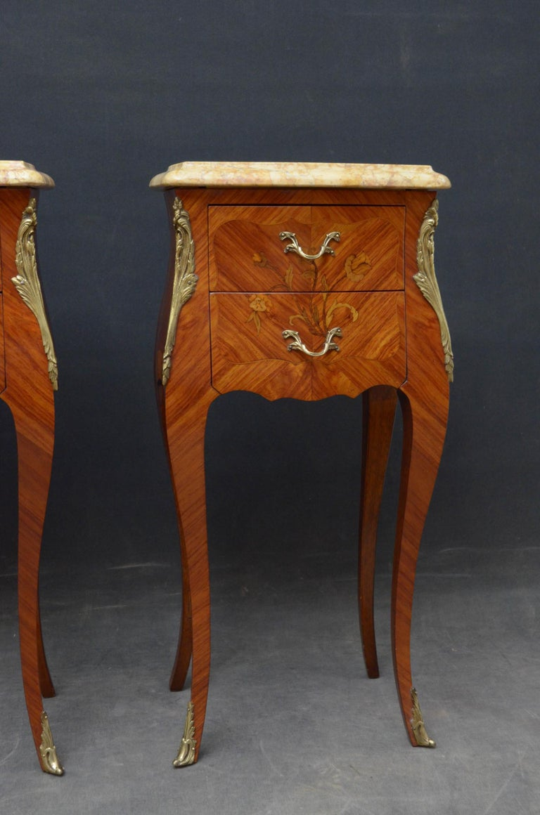 French Pair of Bedside Cabinets For Sale 3