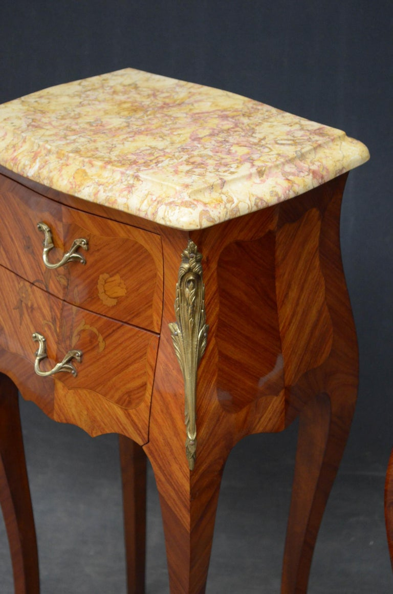French Pair of Bedside Cabinets For Sale 4