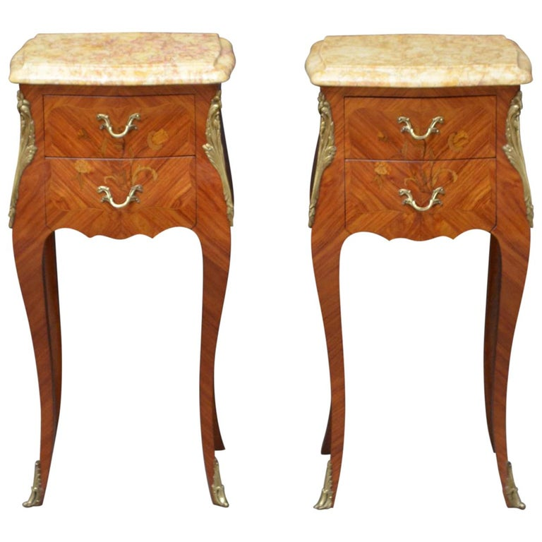 French Pair of Bedside Cabinets For Sale