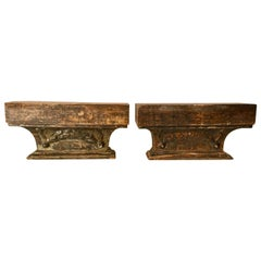 French Pair of Giltwood Brackets Neoclassical