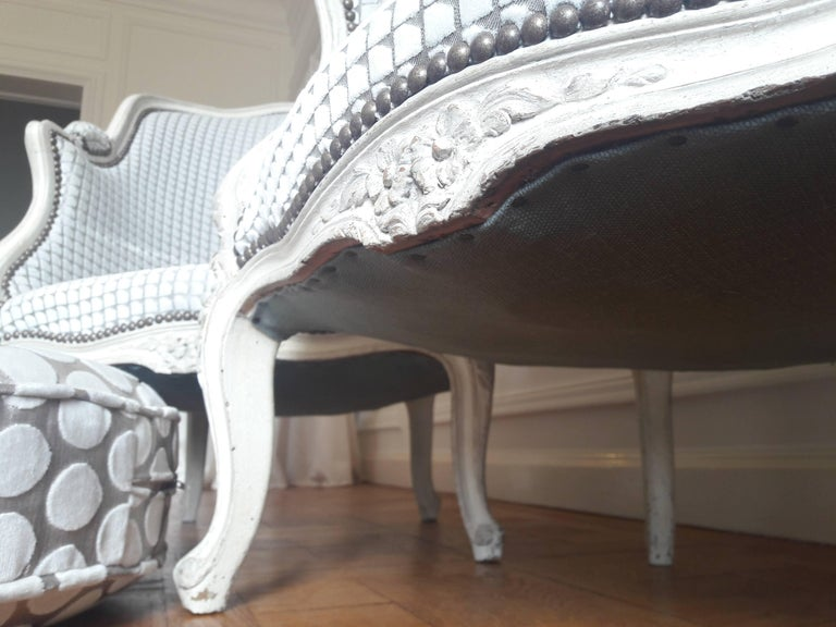 French Pair of Louis XV Bergère Napoléon III Period For Sale 4