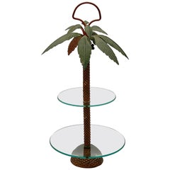 French Palm Tree Centerpiece or Cake Stand