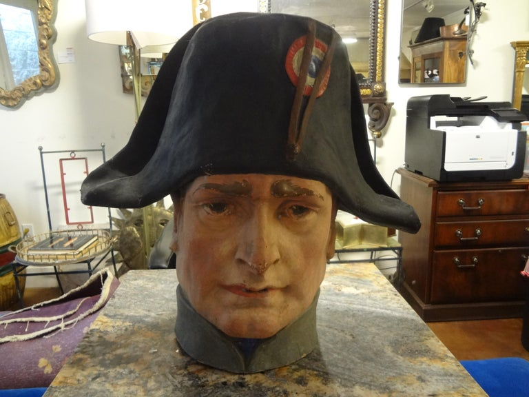 French Papier-Mâché Bust of Napoleon Bonaparte For Sale 4
