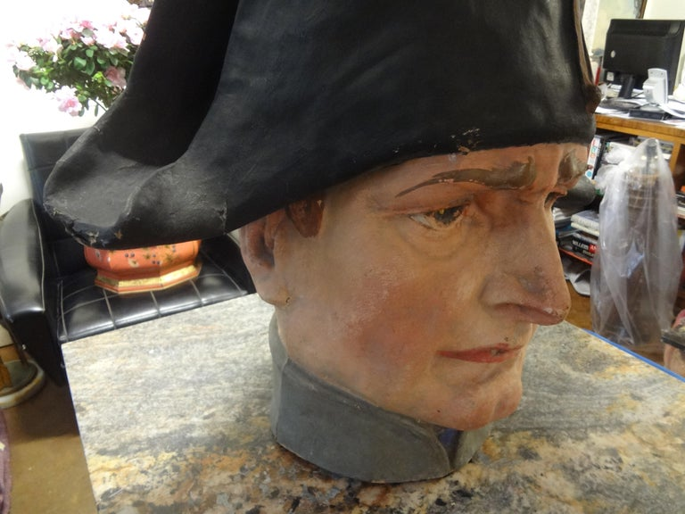 Neoclassical French Papier-Mâché Bust of Napoleon Bonaparte For Sale