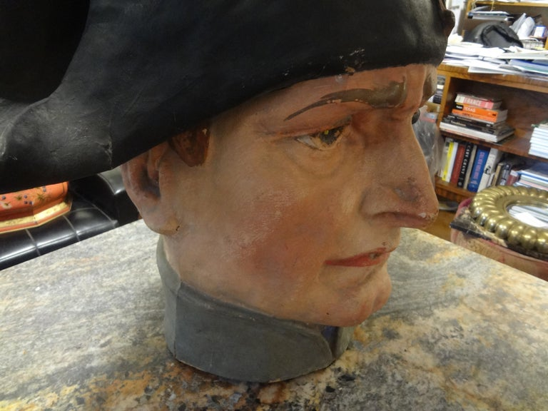 Early 20th Century French Papier-Mâché Bust of Napoleon Bonaparte For Sale