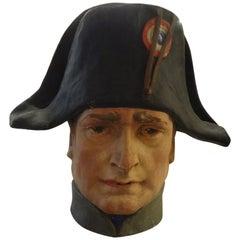 French Papier-Mâché Bust of Napoleon Bonaparte