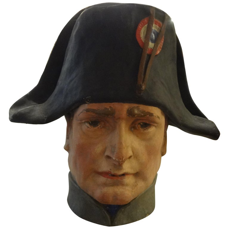 French Papier-Mâché Bust of Napoleon Bonaparte For Sale
